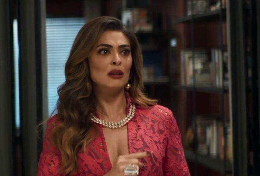 """Maria da Paz diz a Amadeu que descobriu uma forma de dar uma lição em Jô, em """"A Dona do Pedaço"""" (Imagem: Reprodução / TV Globo)"""