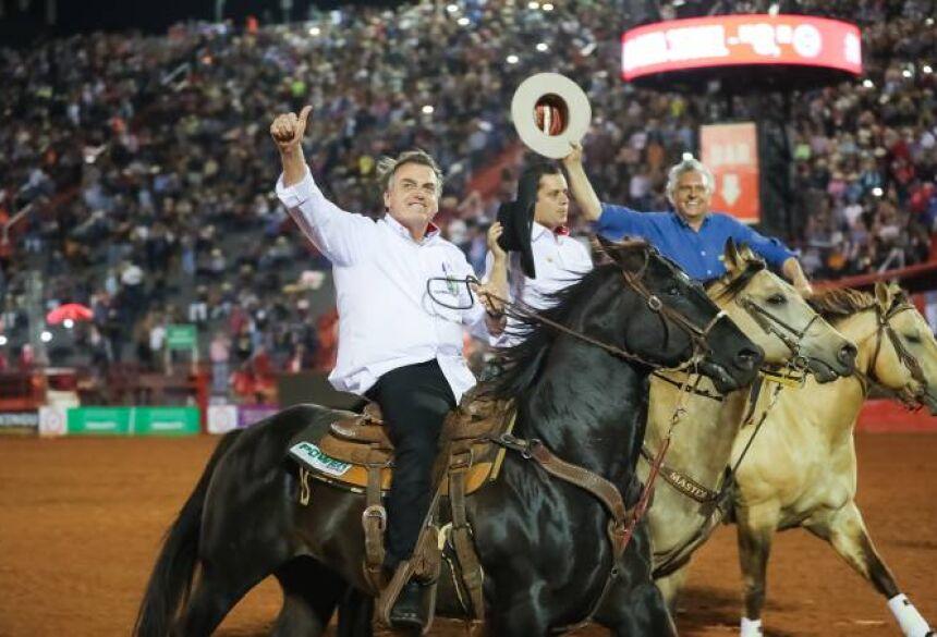 Bolsonaro: o presidente participou da 64ª Festa do Peão de Barretos (SP) neste sábado (17) (Marcos Corrêa/PR/Flickr)