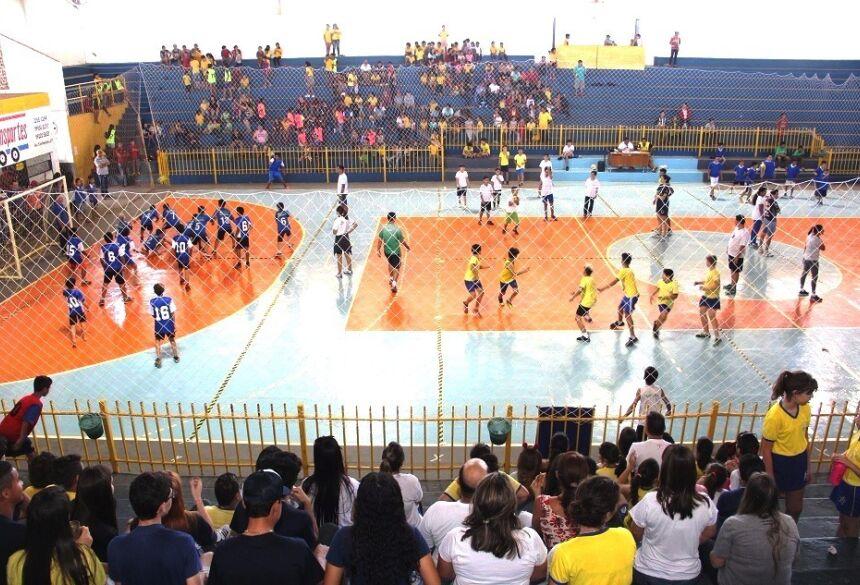 Jogos reúnem todas as escolas do município. Foto: Divulgação