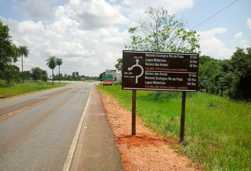 Rodovia vai do trevo da MS-178, nas proximidades do aeroporto, até o trevo da chegada de Guia Lopes. Foto: Divulgação