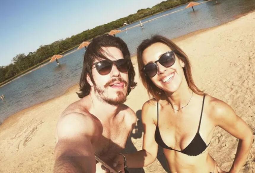 Caio Paduan e Cris Dias (Foto: Reprodução/Instagram)