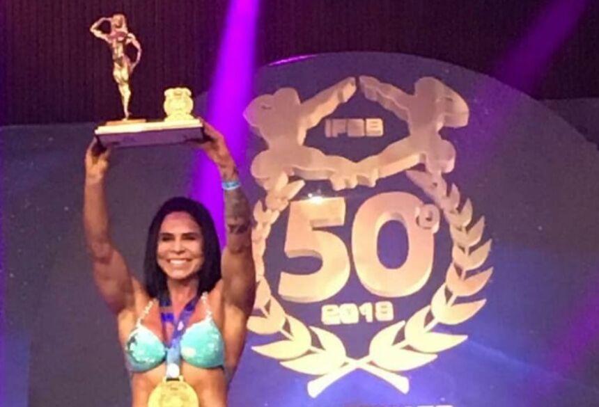 Bonitense se destaca no mundo do Fisiculturismo com título de Campeã Brasileira Fitness Coreográfico