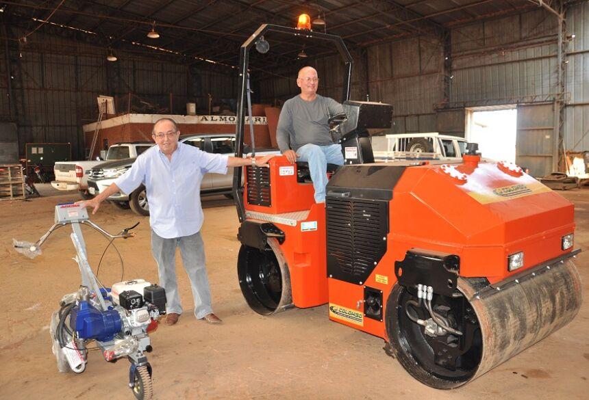 Compactador tem força de impacto de até 9 toneladas. Foto: Jabuty
