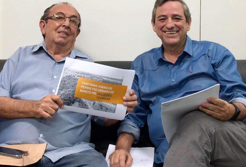 Odilson e Bosco discutem projeto que prevê contorno rodoviário distante da zona urbana de Bonito