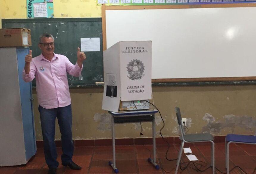Edson Moraes, do Patriota, é eleito prefeito de Miranda.  Foto: Cristiano Gomes/TV Morena