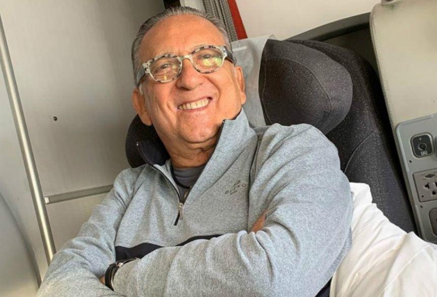 Galvão Bueno passa mal e não vai narrar a final da Libertadores no Peru. Foto: Instagram/Galvão Bueno