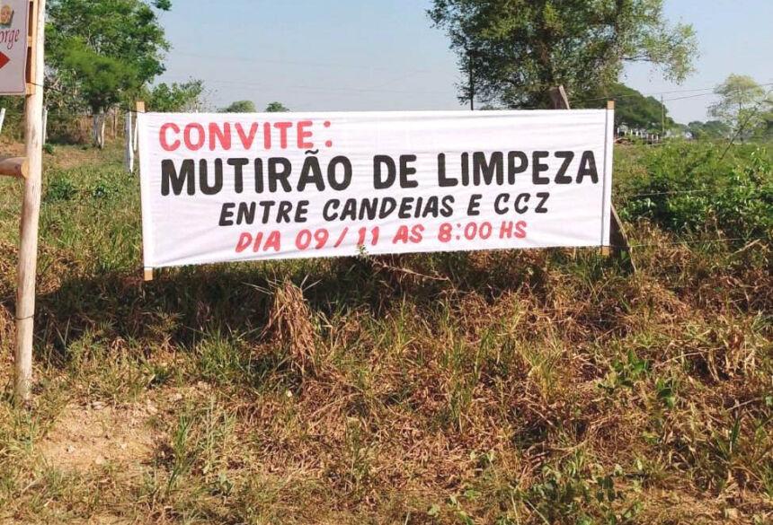 Trabalhos incluirão limpeza das margens do Córrego Marambaia Saladeiro. Foto: Divulgação