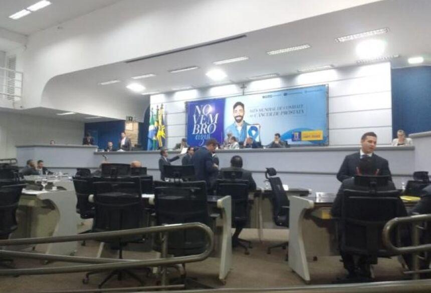 Vereadores durante a sessão desta terça-feira (Foto: Fernanda Palheta)