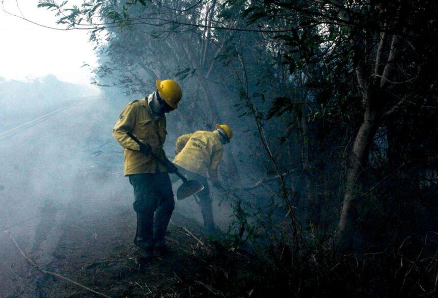Brigadistas combatem incêndio no Pantanal - Foto: Chico Ribeiro/Subcom MS