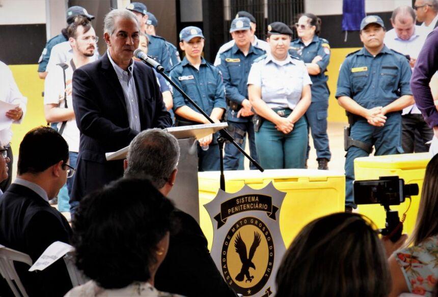 Governador entregou anunciou entrega de novo presídio masculino em 2020 com mais 603 vagas