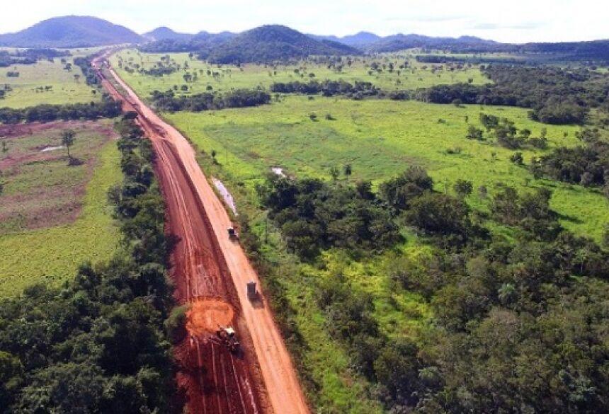 Pavimentação da estrada de Bonito a Gruta do Lago Azul é um dos investimentos. (Arquivo/Edemir Rodrigues)
