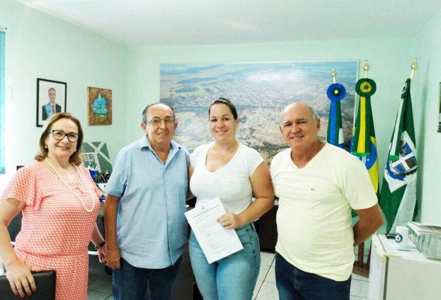 Ato de posse contou com as presenças de secretários municipais. Foto: Divulgação