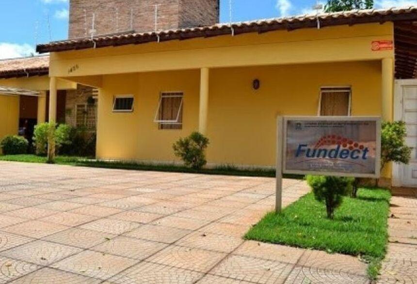 Fachada do prédio da Fundect, em Campo Grande (Foto: Divulgação) -