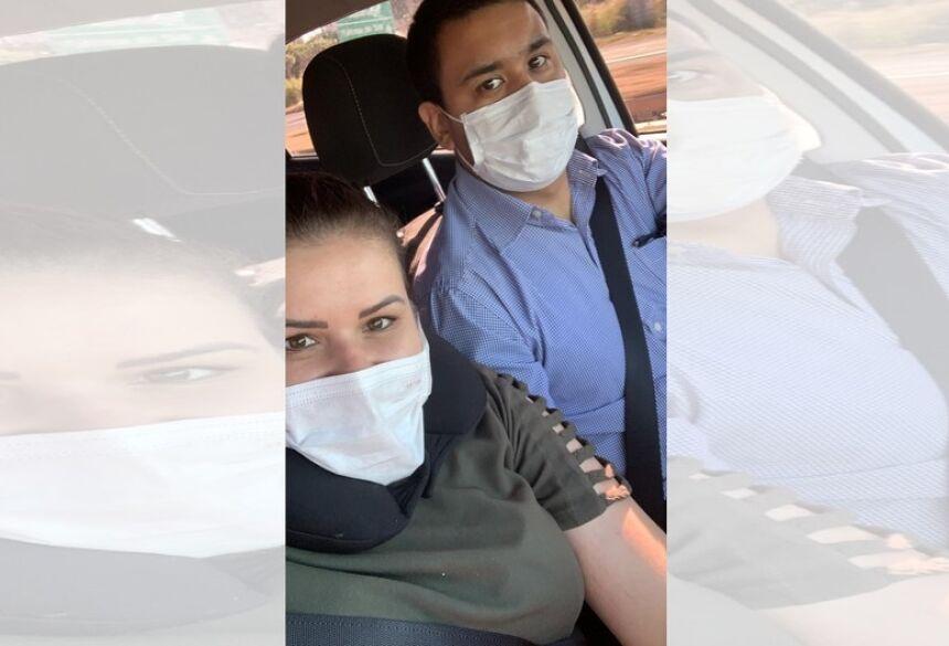 Enfermeira retornou de Dourados neste sábado (04) - Imagem: Redes Sociais