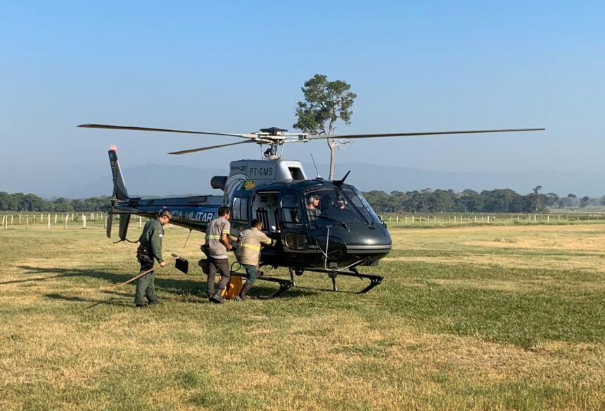 Apoio aéreo foi fundamental para o controle dos focos de calor no Pantanal de Corumbá. Foto: Silvio de Andrade