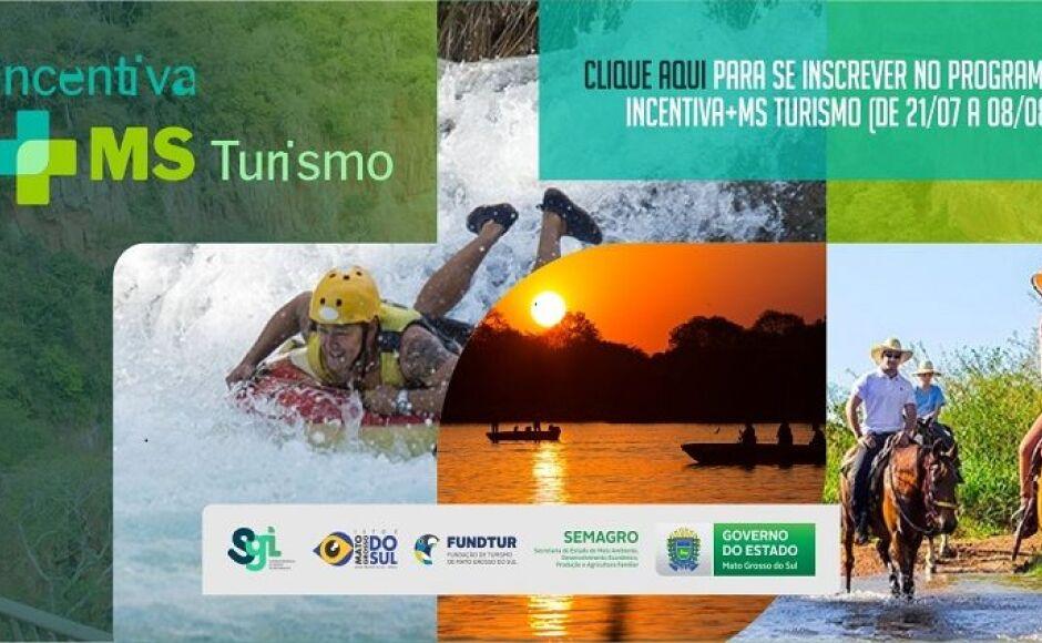 Inscrições para auxílio de R$ 1 mil reais do Programa 'Incentiva+MS Turismo' vai até dia 08 em MS