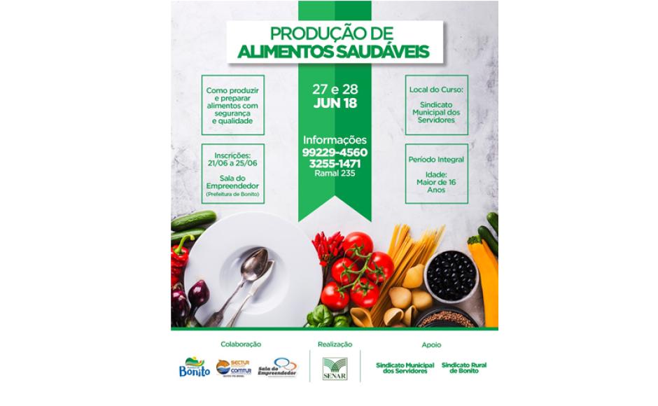 SENAR vai realizar curso de Produção de Alimentos Saudáveis em Bonito