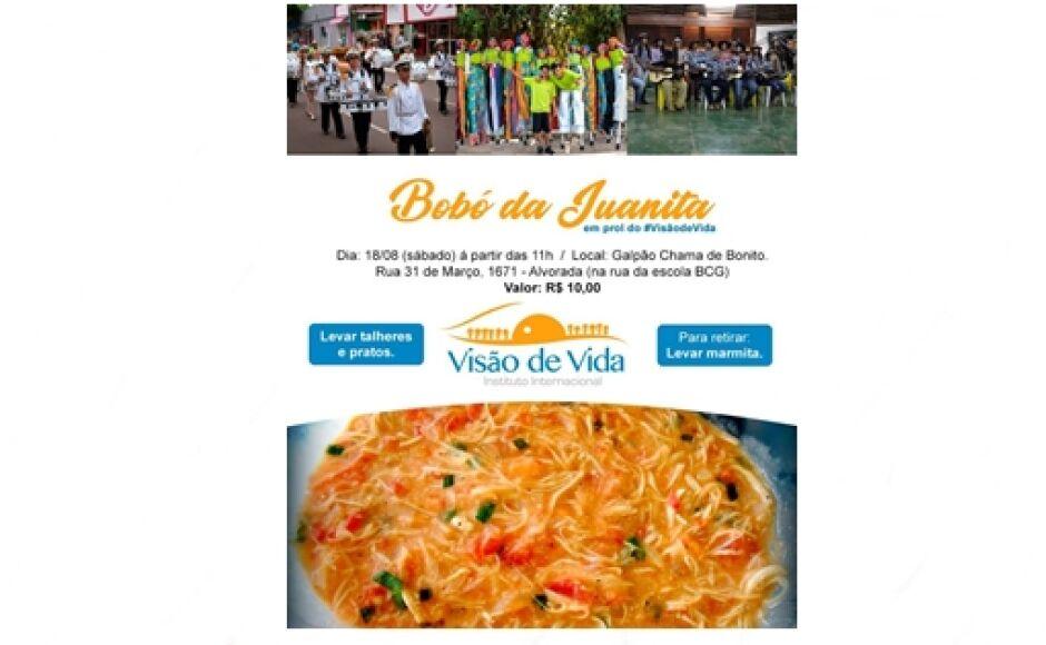 Almoço beneficente em prol do Instituto Visão de Vida acontecerá neste sábado em Bonito