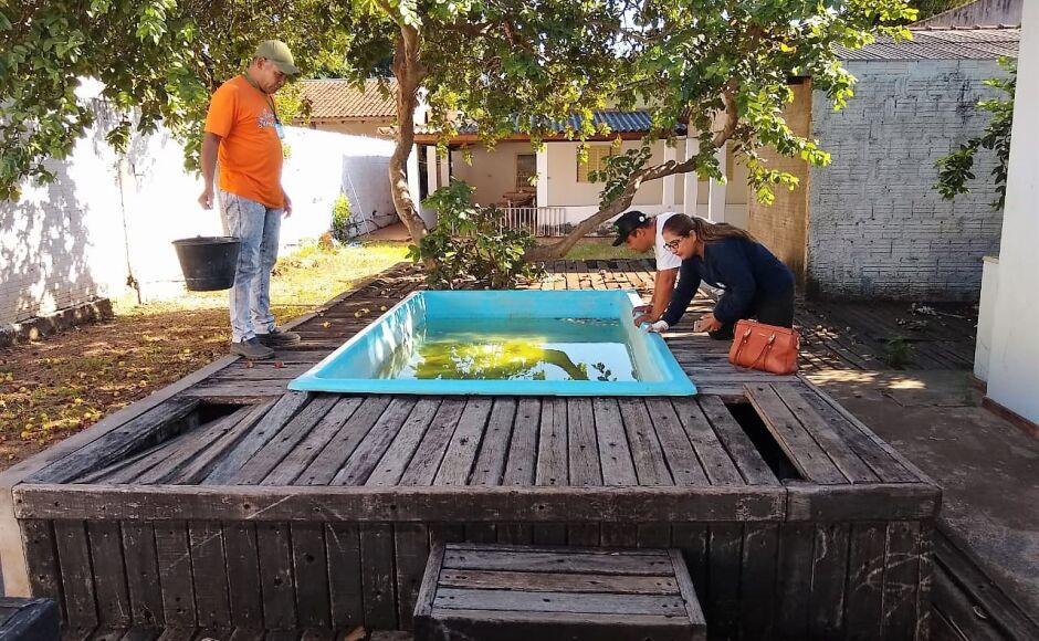 Vigilância elimina foco da dengue em imóvel abandonado em Bonito (MS)