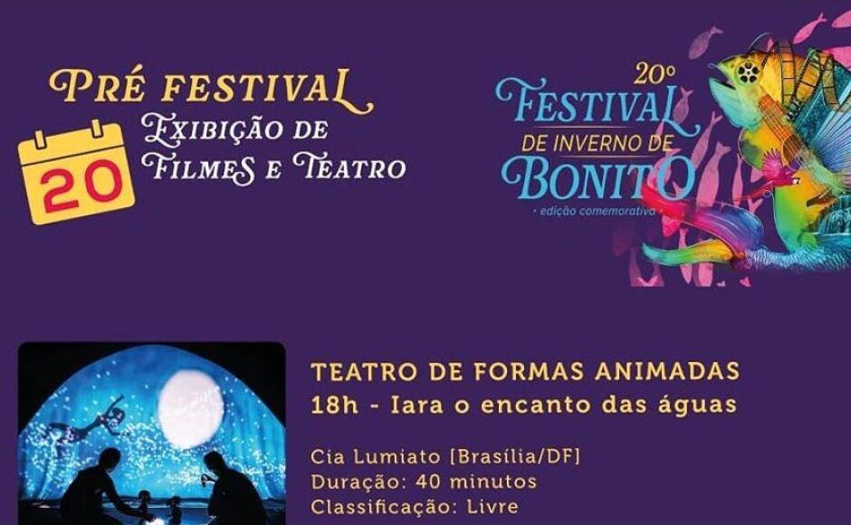 Festival promete e pré-festival começa nesta segunda-feira, Confira a programação em Bonito (MS)