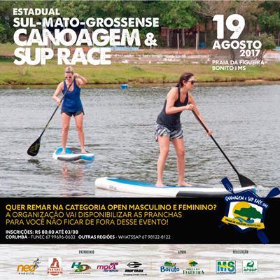 Inscrições abertas para a 2ª Etapa do Campeonato Estadual de Canoagem<br>e Stand Up em Bonito (MS)