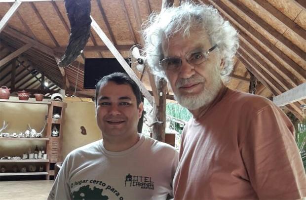 Ricardo Constantino, do Hotel Cabañas, e Renato Teixeira, inspirado na beleza natural da turística Bonito